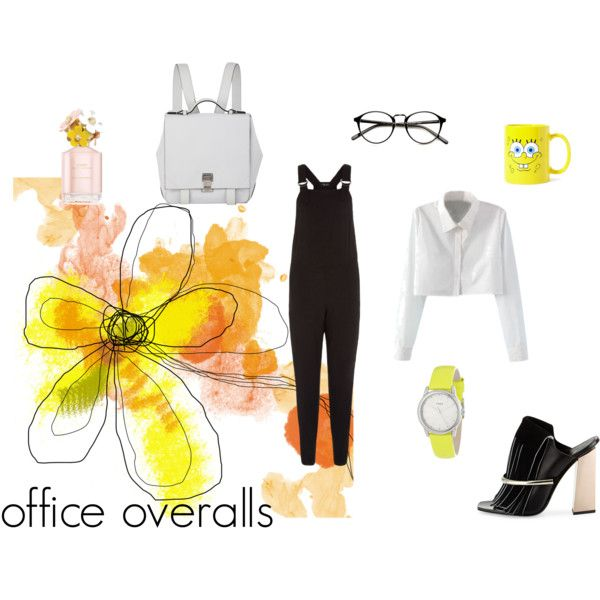 Office overalls by zana-boema on Polyvore featuring Proenza Schouler, Timex and Forever 21