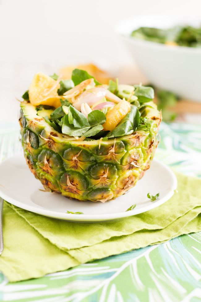 Watercress salad w/ pineapple and avocado