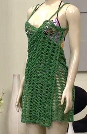 Two Crochet Cover Ups (Diagrams/Charts - Not in English) ~ DUAS SAIDAS DE PRAIA EM CROCHE | As Receitas de Crochê