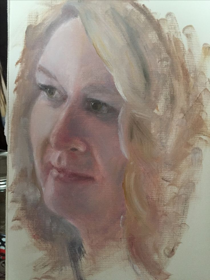 Oil painting portrait. Bride to be.