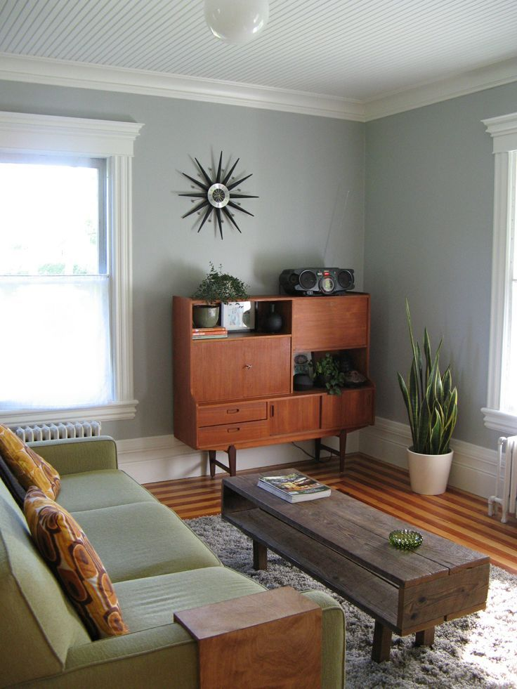 Wonderful Mid Century Modern Living Room - consider coffee table design as future side table.