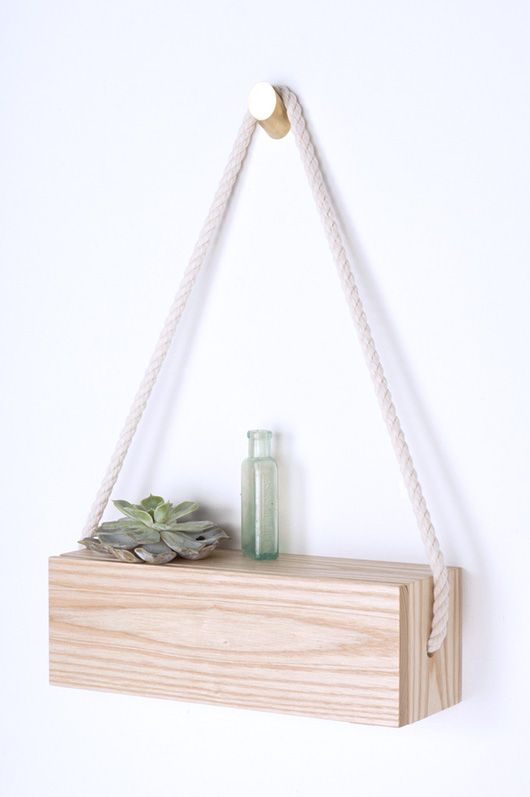 diy: hanging shelf //