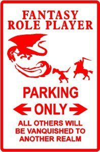 Amazon.com - FANTASY RP PARKING * sign dungeon dragon - Yard Signs