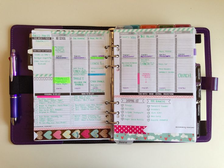 I <3 how 'MyPurpleyLife' used the Passion Planner weekly template on 2 pages for her planner. Find the free template @ www.passionplanner.com