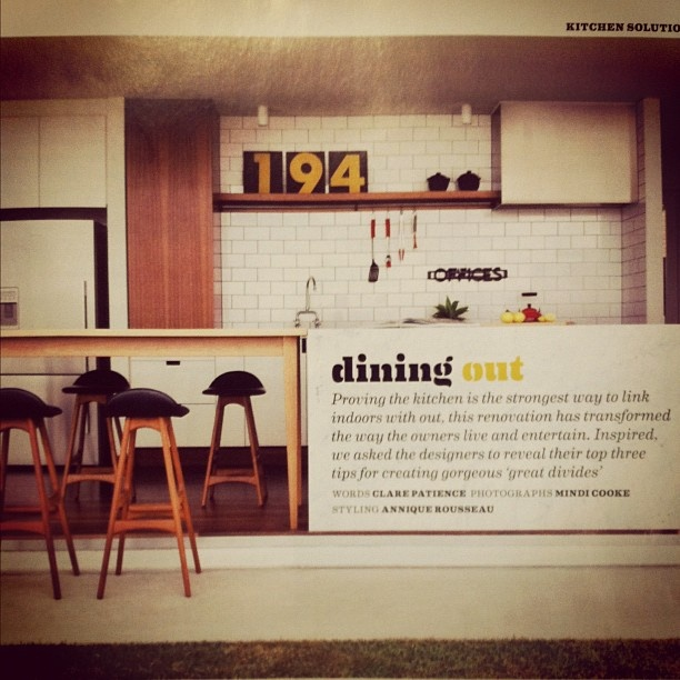 Photo by owenandvokes of the OAV Bulimba Hill House in Inside Out magazine.