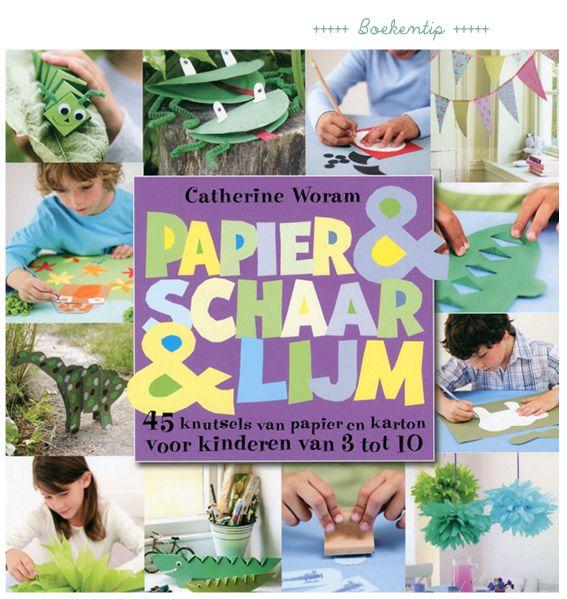 papier & schaar & lijm knutselboek voor kinderen #DIYbook #doeboek #diy