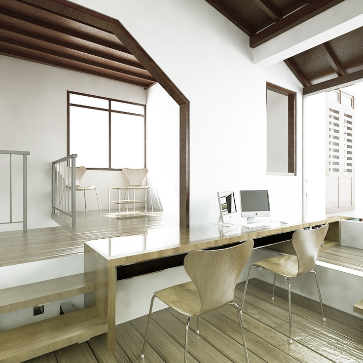 Office desk in my interior design.
