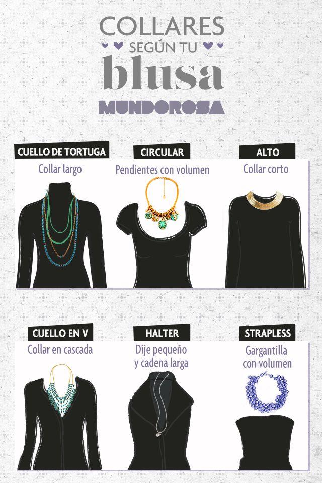Guía de collares según el estilo de tu blusa.