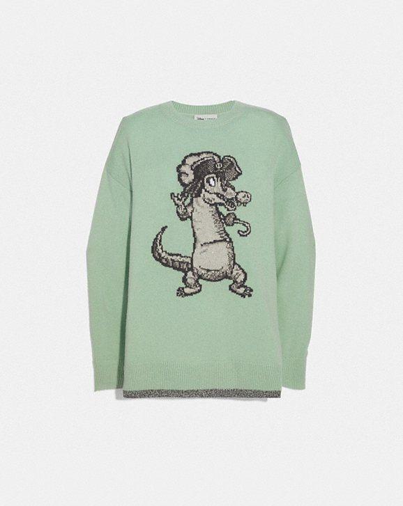 757e04f681829 Coach Disney X Crocodile Oversized Intarsia Sweater in 2019