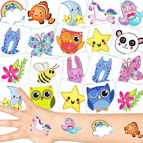 German Trendseller® – 36 x tatouages temporaires mignonnes┃tatouages ephémères┃l'anniversaire d'enfant┃petit cadeau┃ motifs pour filles:…