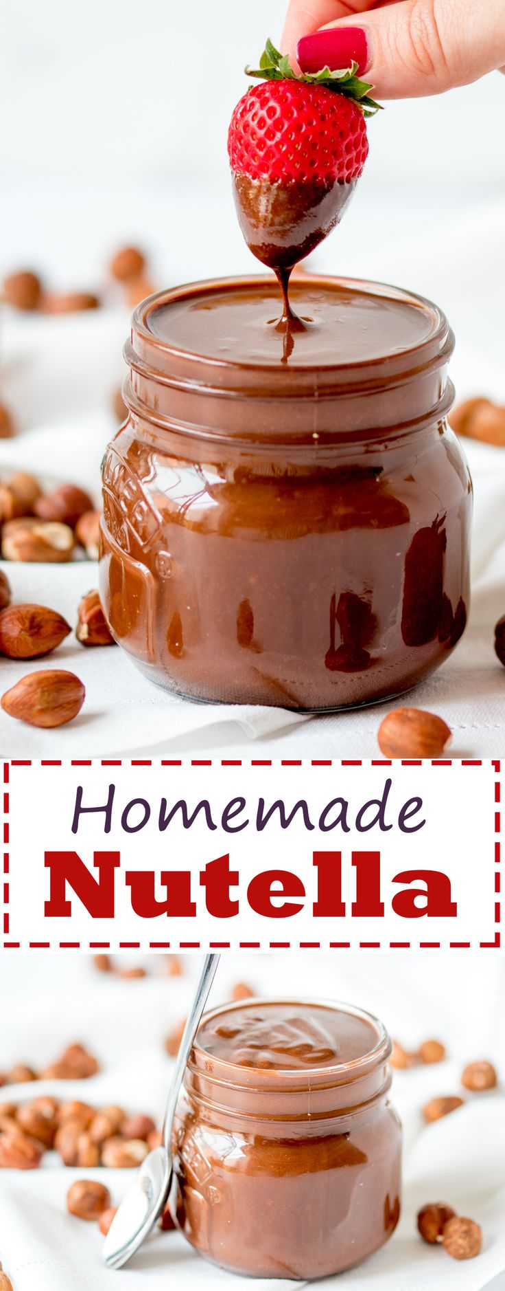 Amazing homemade Nutella made with real chocolate for a luxurious treat!
