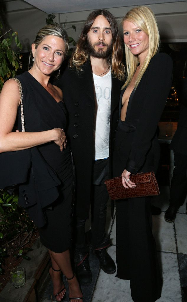 Jennifer Aniston, Jared Leto & Gwyneth Paltrow from 2014 Golden Globes: Party