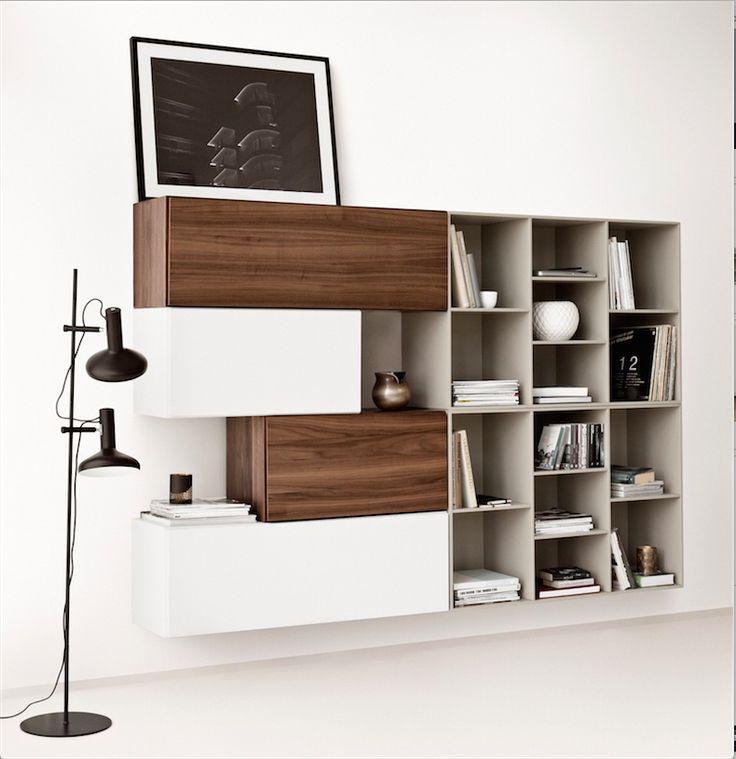 boconcept lugano walnut and white lacquer cabinets loft. Black Bedroom Furniture Sets. Home Design Ideas