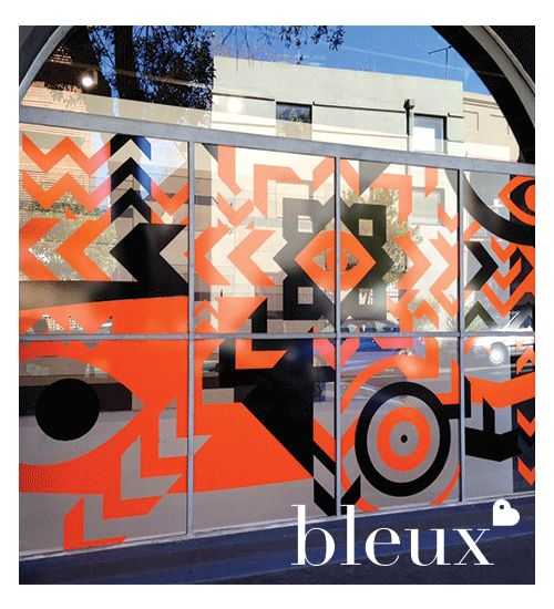 Mosa Mural's Showroom Opening, our designers did a great job creating an eye catching front window!