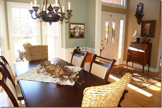 Oyster Bay Dining Room Next To Beige Family Room