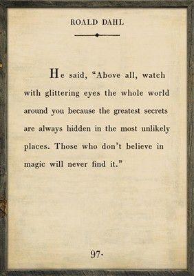 Quote Art ~ Roald Dahl