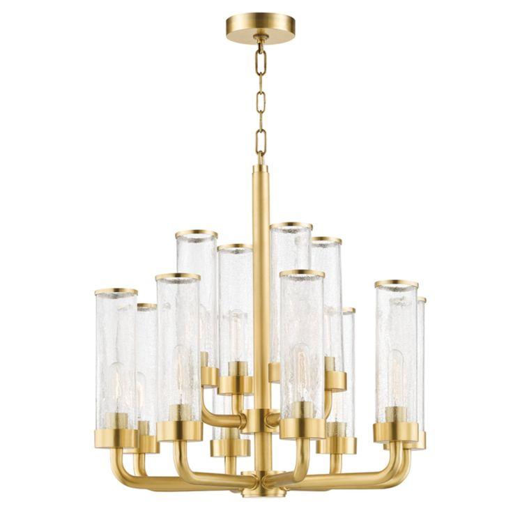Hudson Valley Lighting 1726 Agb Soriano 12 Light Chandelier In Aged Brass Chandelier Lighting Hudson Valley Lighting Brass Chandelier