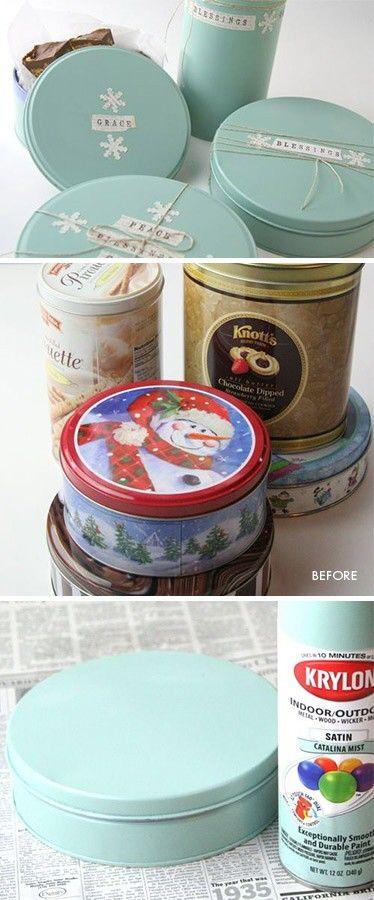 Pinta con aerosol tus cajas de galletas navideñas
