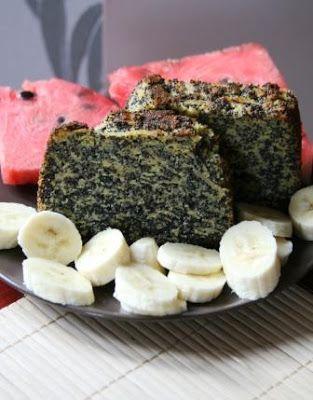 QuchniaWege: Ciasto jabłkowo-makowe bez mąki
