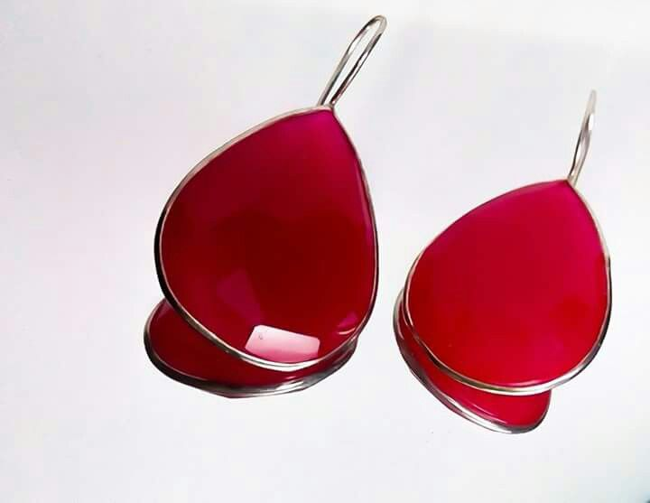 Orlov Jewellery-Cherry quartz,argint