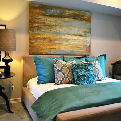 28 best images about {Home} Bedroom - Teal, Brown & Gold on ...