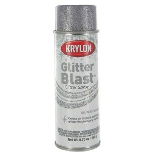 Krylon Silver Flash Glitter Blast glitter spray will cover any project with a spectacular sparkling finish that is sure to get noticed.
