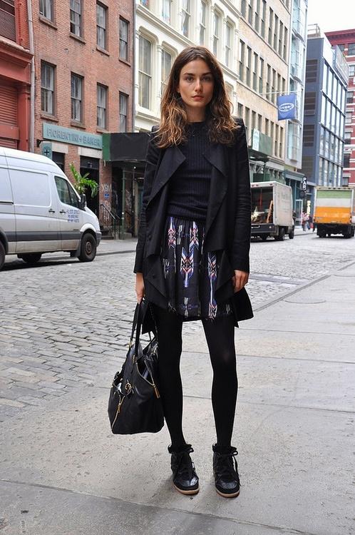 Model street style, Isabel Marant sneakers et al.