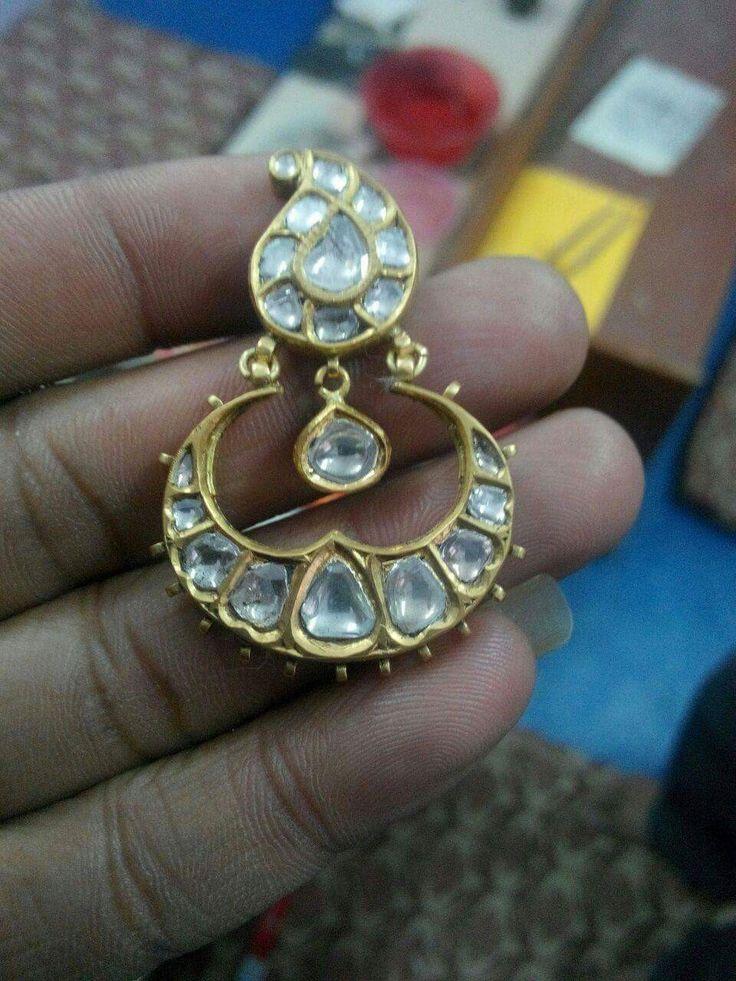 12 best Uncut Diamond images on Pinterest | Ethnic jewelry, India ...