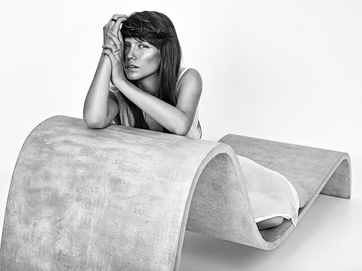 Concrete rings and earrings by Gravelli.