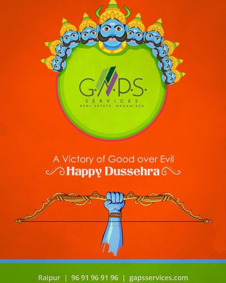 A #victory of #Good over #Evil ...!! #HappyDussehra everyone ..  For any #realestate #queries #click www.gapsservices.com or #call 9691969196