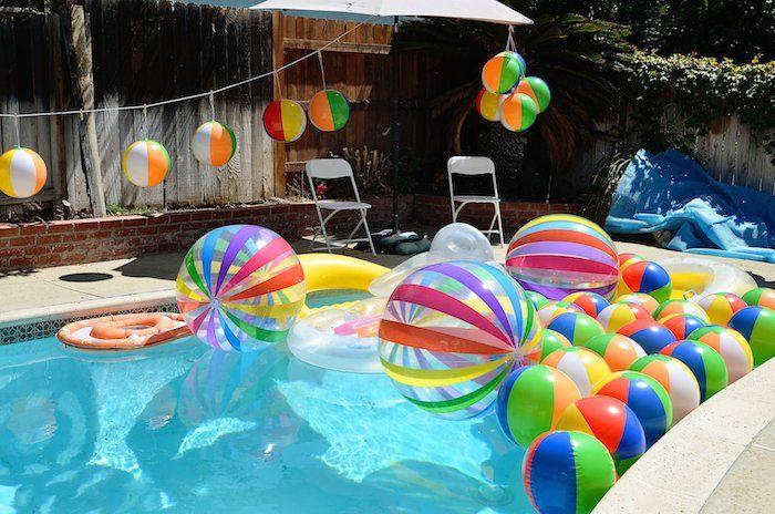 Beach Ball themed birthday party via Kara's Party Ideas KarasPartyIdeas.com Cake, decor, supplies, cupcakes, banners, tutorials and more! #beachballparty #beachball (5)