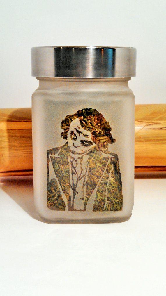 The Joker Etched Glass Stash Jar  Batman by Twisted420Glass