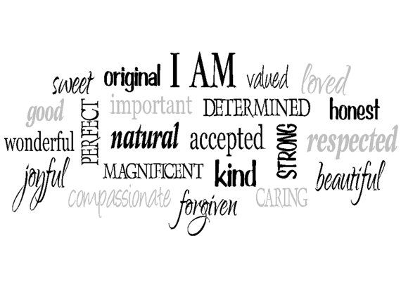 I am positive word collage for girls Teen girl by WildEyesSigns