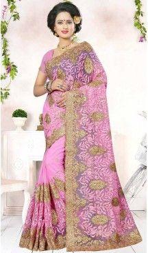 Embroidery Rose Pink Color Net Ethnic Wear Designer Sarees   FH527280278 >>Follow Us @heenastyle <<< ------------------------------------ #traditionalwear #ethnicwear #ethniccollection #onlinesarees #photoshoot #model #designersarees #sari #designersaris #attractive #beautiful #classy #usa #newyork #newjersey #australia #italy #unitedkingdom #golden #womenscloth #womenfashion #weddingseason #weddingwear #bridalwear #heenastylesaree #sarees #blouses #party #designerblouses  #bollywood