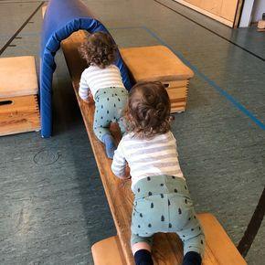 Wir waren vorhin zu einer Probestunde beim Eltern-Kind-Turnen. Den Beiden hat es… – Swantje Kock