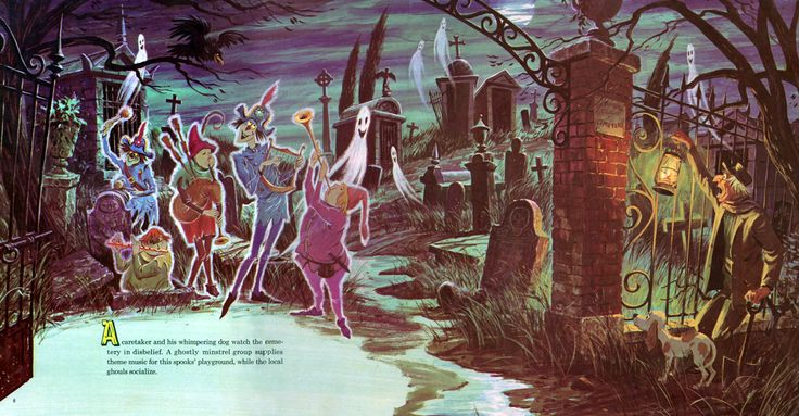 """""""The Story and Song from The Haunted Mansion"""" illustrated"""