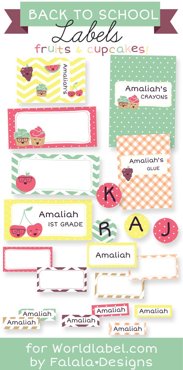 1000 images about kids school labels printables and templates on pinterest personalized. Black Bedroom Furniture Sets. Home Design Ideas
