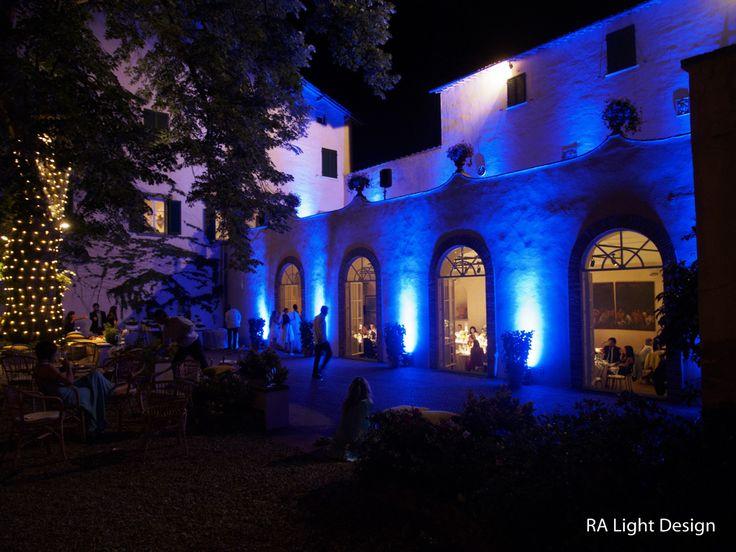 Blue Lights, Montefiano June 2015 www.ralightdesign.com