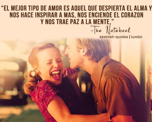 Frases De Paz: Noa Ryan Gosling El Mejor Amor Alma Inspirar Corazon Mente