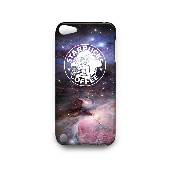 Disney Ariel Mermaid Starbucks iPod Touch 4th 5th HTC One M7 M8 Case