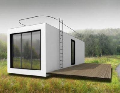vue 3d d 39 un projet de container habitable design avec. Black Bedroom Furniture Sets. Home Design Ideas