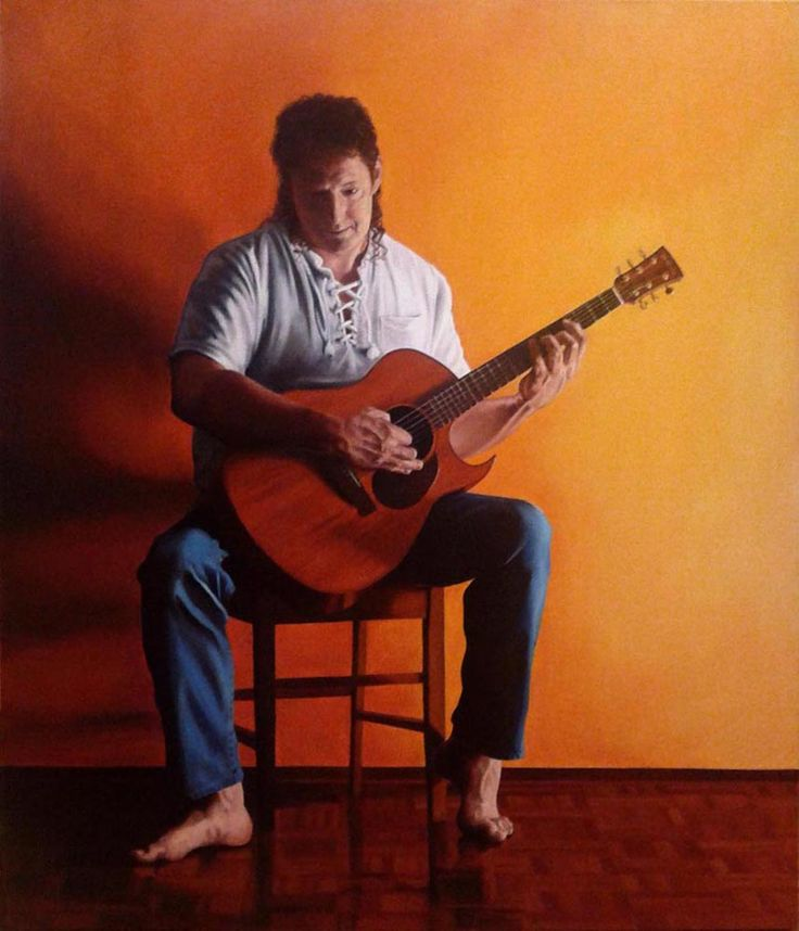 'The Musician' Oil painting by Tegan Mitchell.