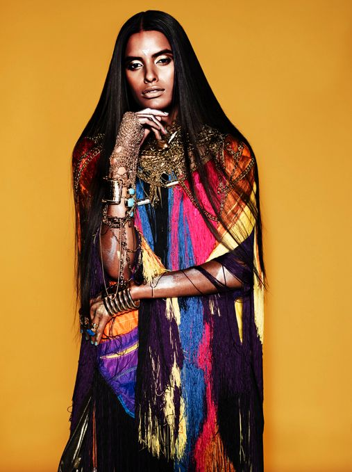 yarnes08:  stylesight:  Lakshmi Menon by Josh Olins for Dazed & Confused April 2009  tribal realness.