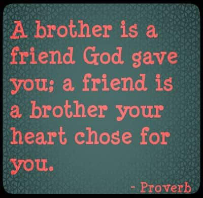 Image with Brother Quote