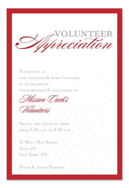'Volunteer Appreciation Confetti' by Invitation Consultants