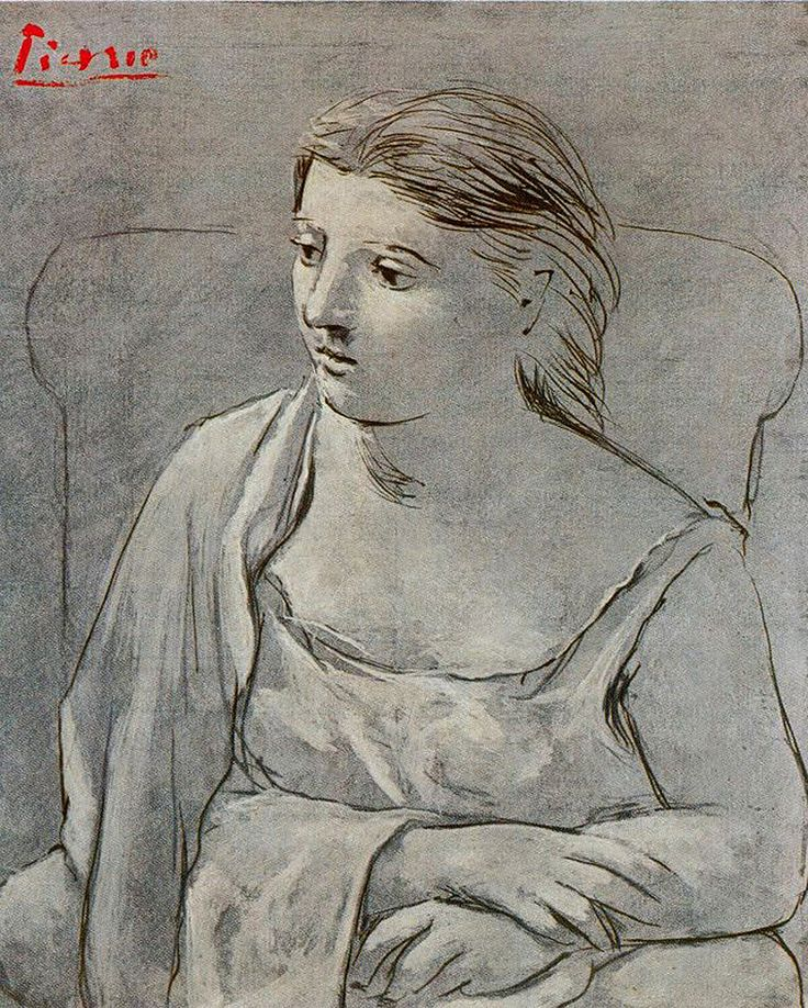 Woman in white, 1923 Pablo Picasso