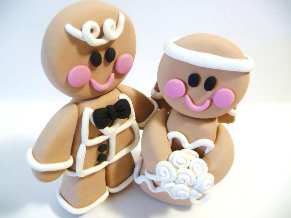 Gingerbread Wedding Cake Topper .... too cute!