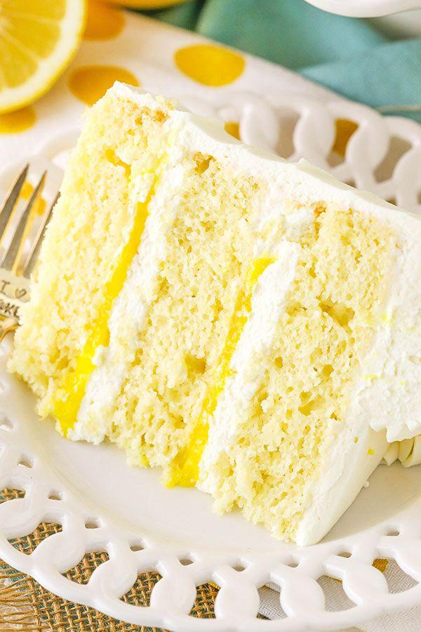 Lemon Mascarpone Layer Cake – ein leichter Zitronenkuchen mit Zitronenquarkfüllung …   – Good dinner ideas