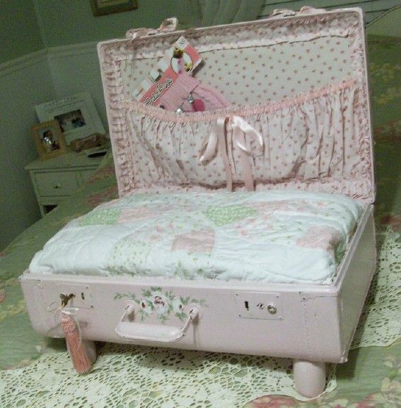 Dog or Cat Bed Shabby Chic Cottage Vintage by PinkPaperRose