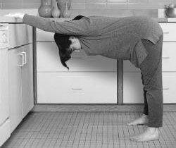Yoga oefening bovenrug stretch